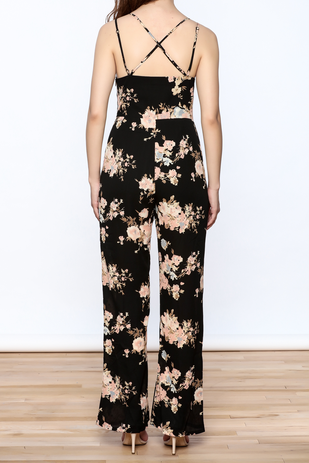 Sugarlips Black Fiona Jumpsuit - Back Cropped Image