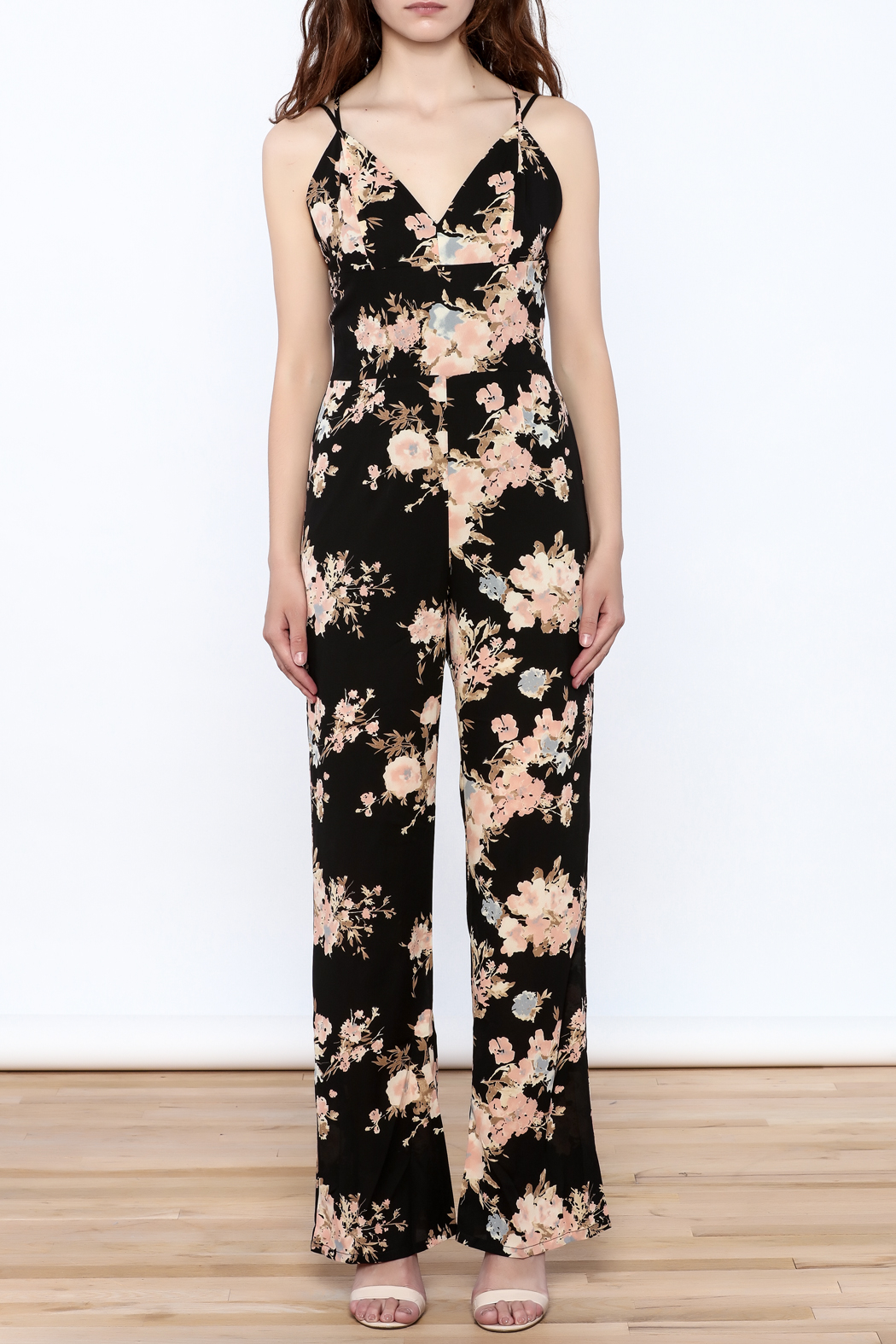 Sugarlips Black Fiona Jumpsuit - Front Cropped Image