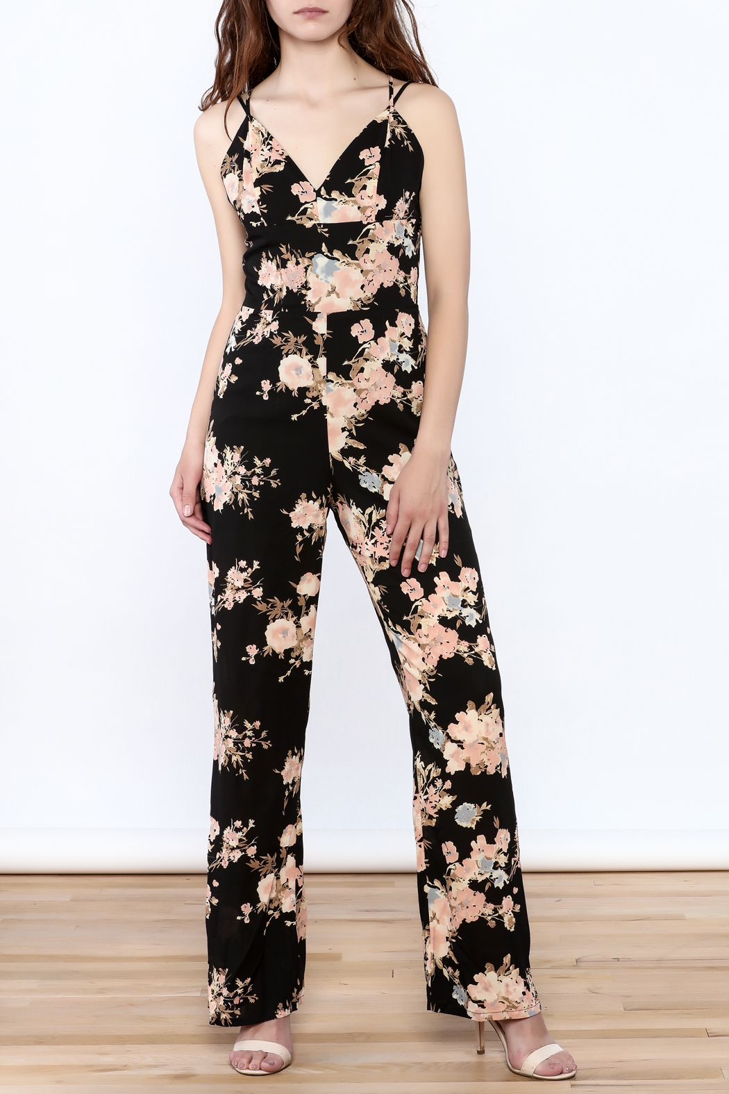 Sugarlips Black Fiona Jumpsuit - Front Full Image