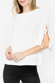 Sugarlips Tie Sleeve Top - Front cropped