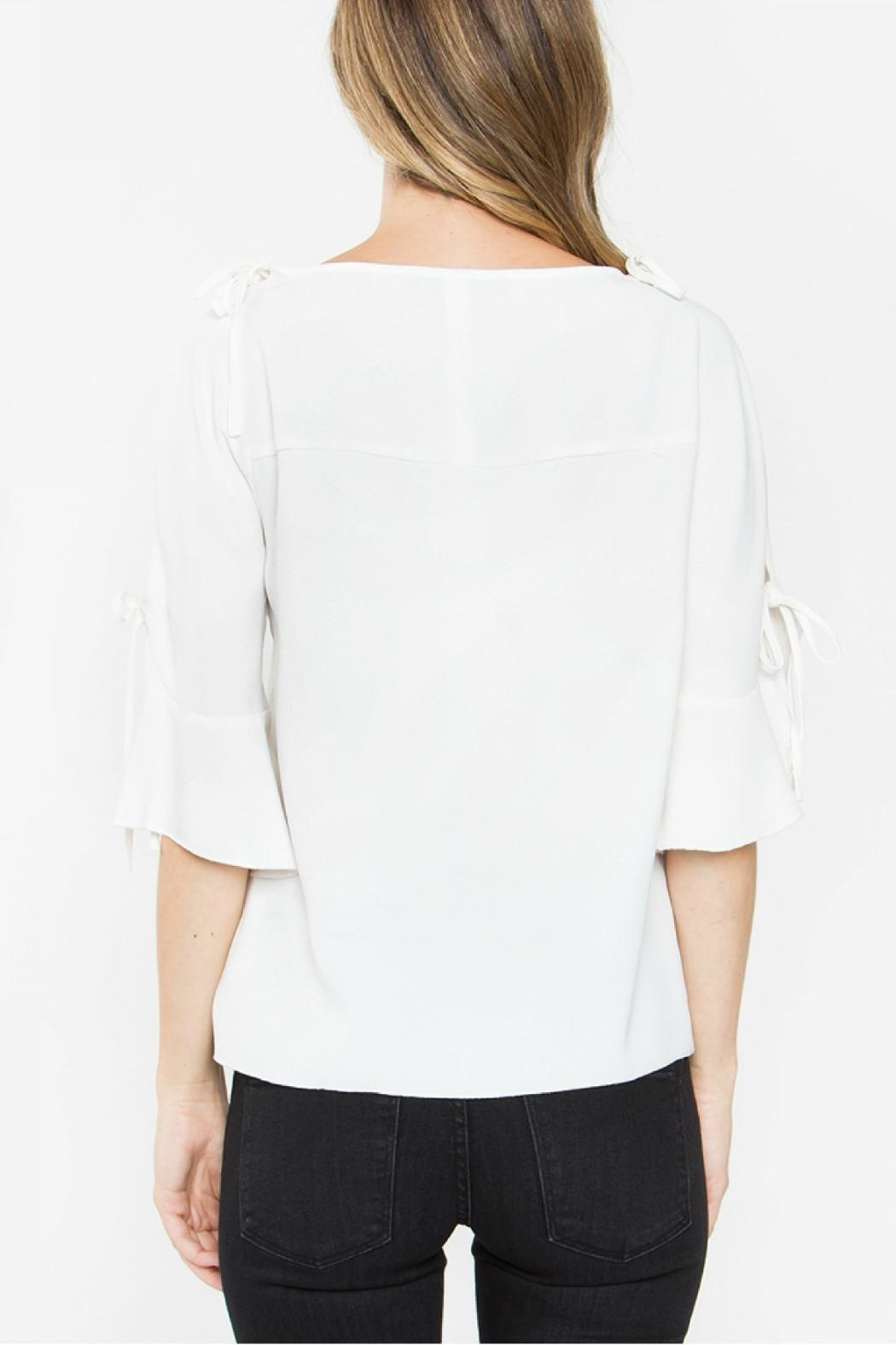 Sugarlips Tie Sleeve Top - Side Cropped Image