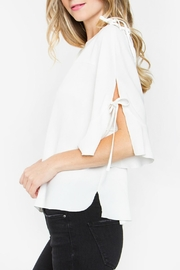 Sugarlips Tie Sleeve Top - Front full body