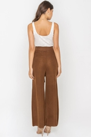 Sugarlips Waist-Tie Knit Pants - Back cropped