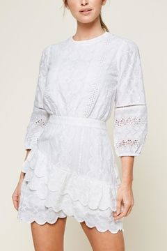 Sugarlips White Embroidered Dress - Product List Image