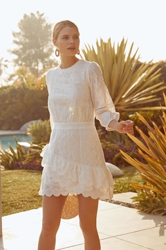 Sugarlips White Embroidered Dress - Alternate List Image