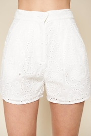 Sugarlips White Eyelet Shorts - Product Mini Image