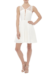 Sugarlips White Swan Dress - Front full body
