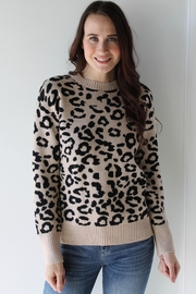 Sugarlips Willa Leopard Sweater - Front cropped