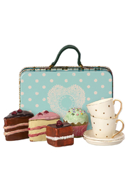 Maileg Suitcase With Cakes & Tableware For Two - Product Mini Image