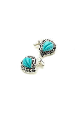 Shoptiques Product: Turquoise Cufflinks