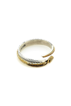Shoptiques Product: Sterling Silver Feather Ring