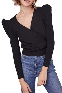 ASTR the Label Suki Surplice Puff Shoulder Sweater - Product List Image