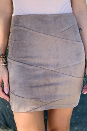 HYFVE Sula Suede Bandage Mini Skirt - Front full body