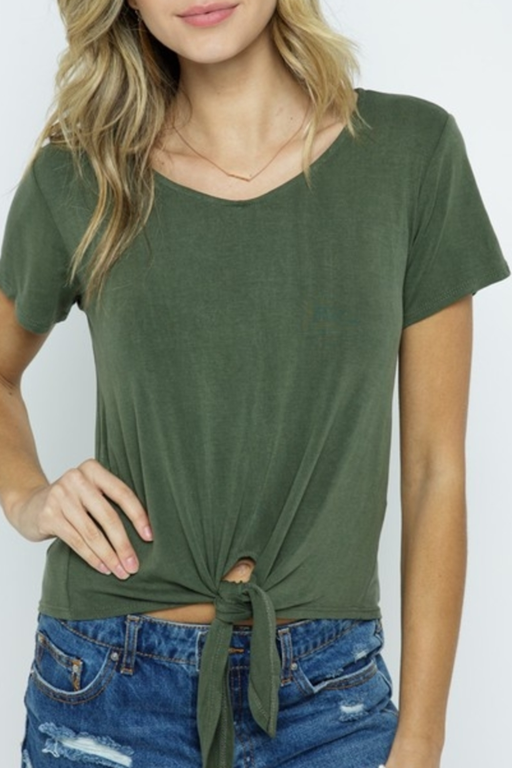 Cozy Co. Summer Basic top - Front Cropped Image