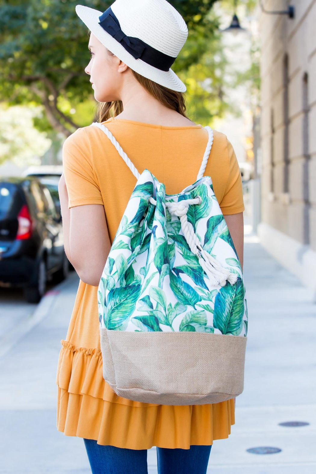 Riah Fashion Summer Beach Backpack - Side Cropped Image