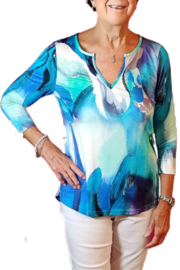 Sno Skins Summer Blues Knit Top - Product Mini Image