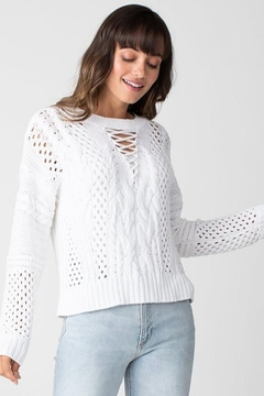 Margaret O'Leary Summer Cable Pullover - Alternate List Image