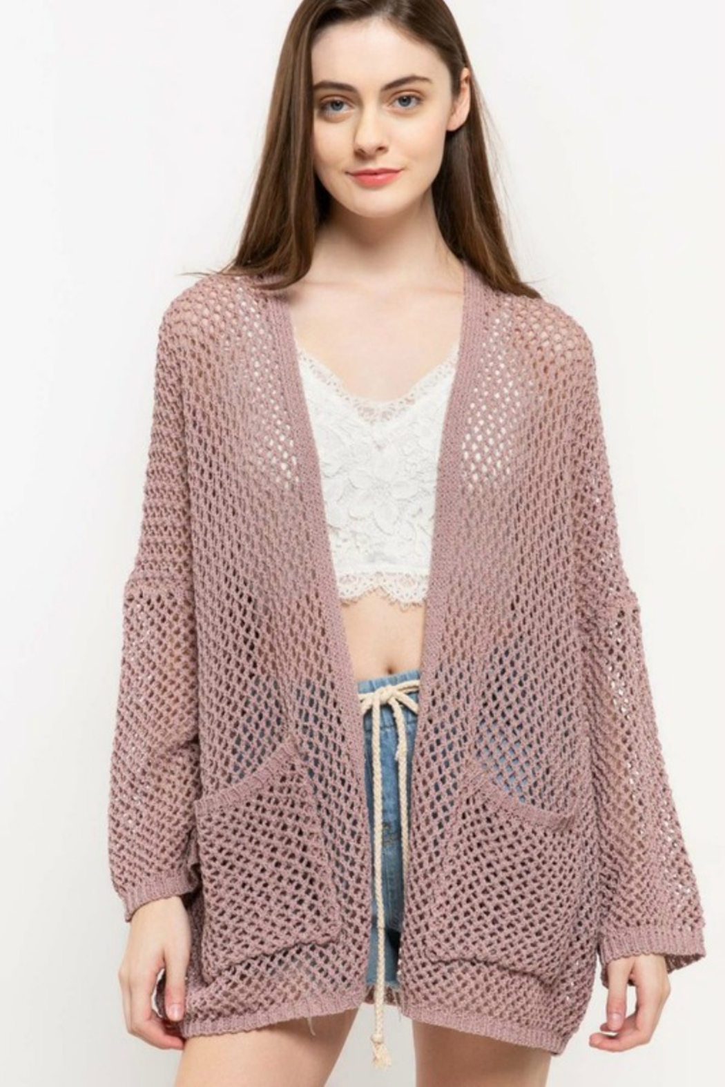 POL SUMMER CARDI - Front Cropped Image