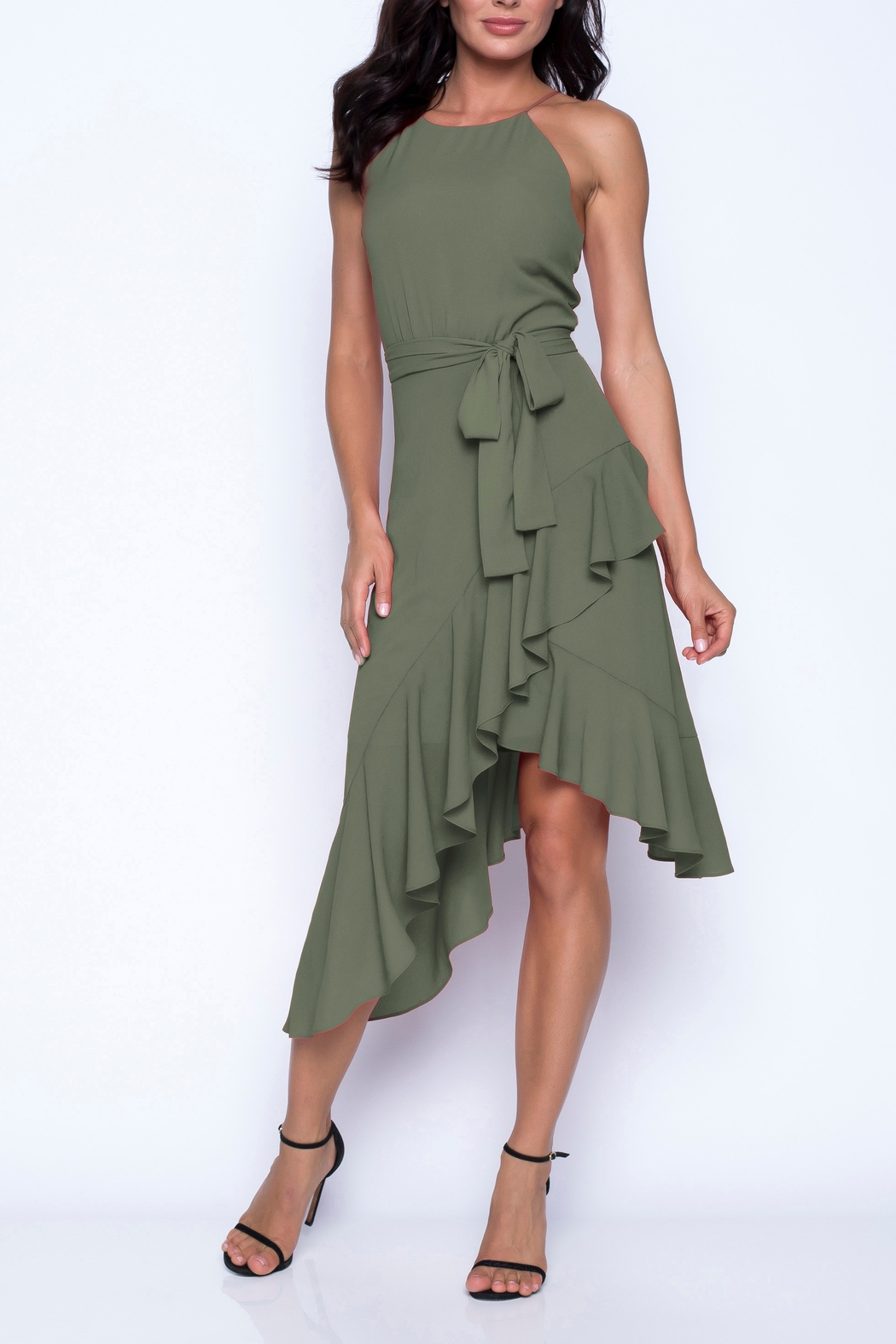Frank Lyman Summer Crepe Knit Woven Dress - Front Cropped Image