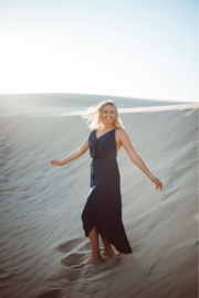 Seventy Five Degrees and Fuzzy Summer days in Navy Dresses - Product Mini Image