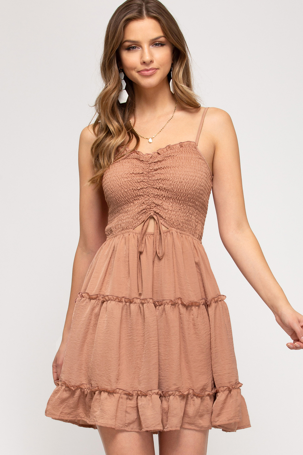 She and Sky Summer Dreams dress - Front Cropped Image
