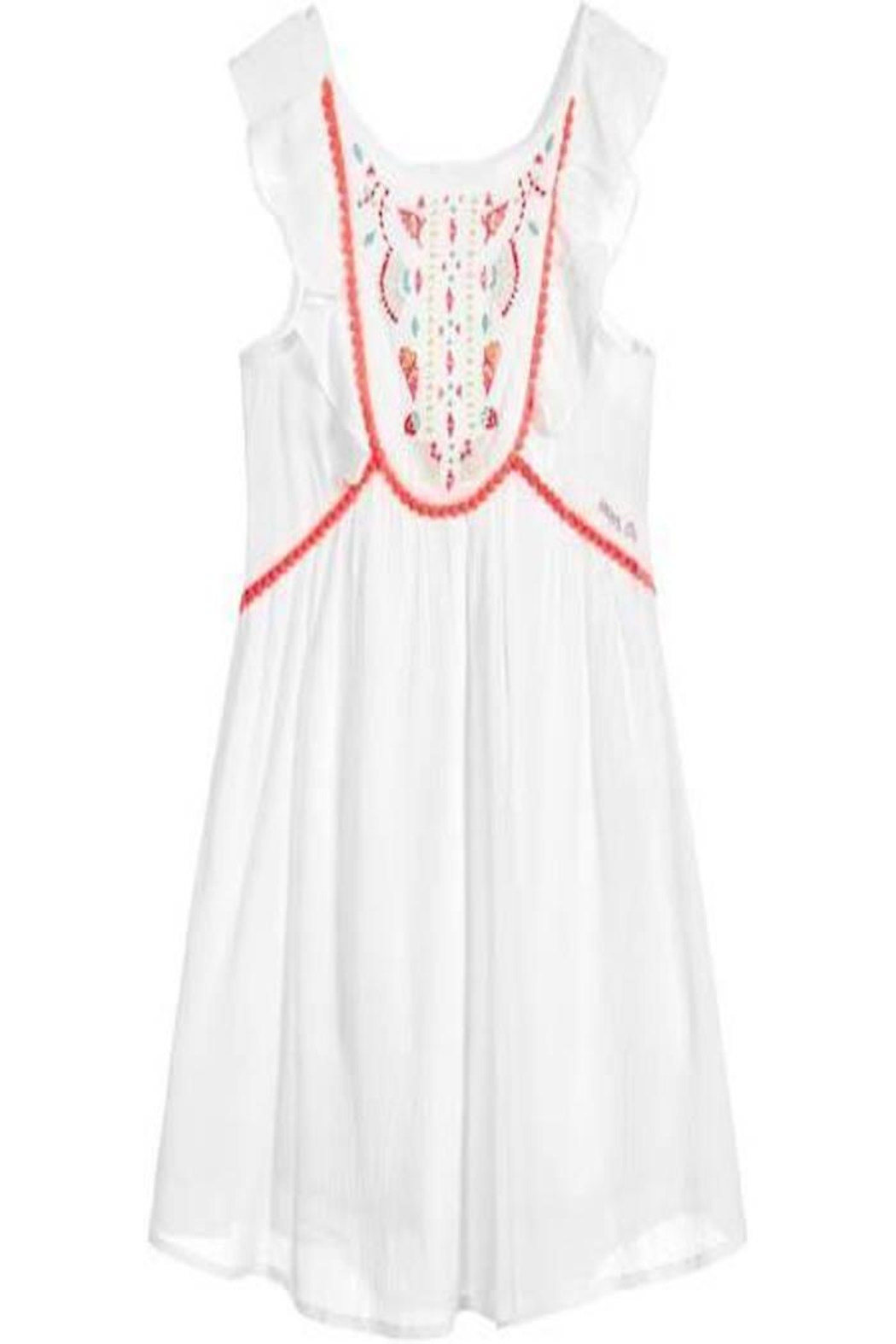 IKKS Summer Embroidered Dress - Main Image