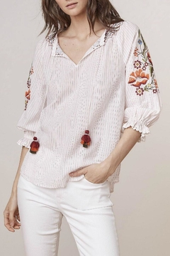 Velvet Summer Embroidery Top - Product List Image