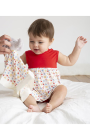 Magnetic Me Summer Fare Modal Magnetic Dress and Diaper Cover - Front full body