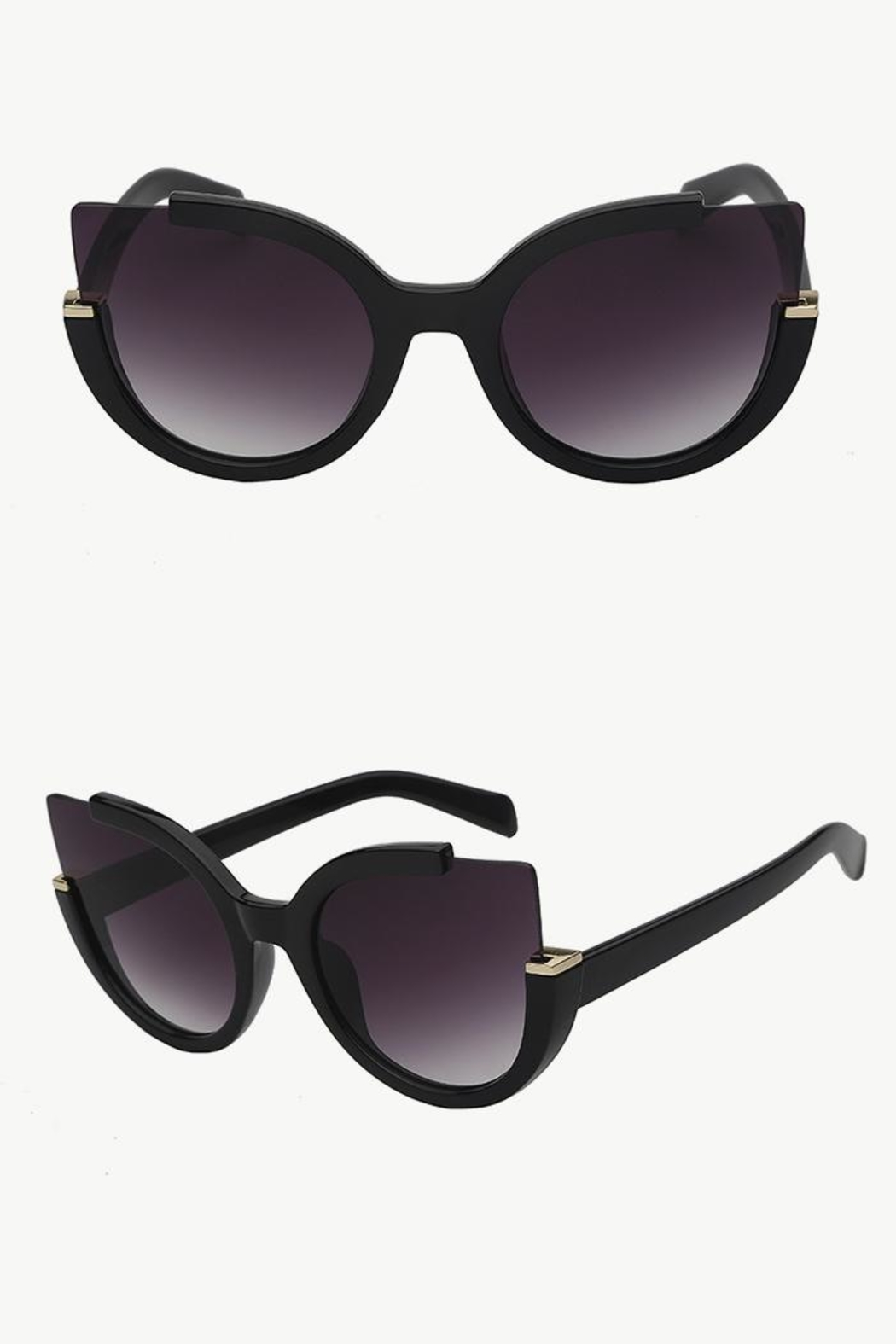 People Outfitter Summer Fashion Sunglasses - Front Cropped Image
