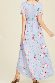 Viamor Summer Floral High-Low Dress - Front full body
