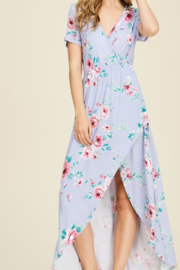 Viamor Summer Floral High-Low Dress - Front cropped