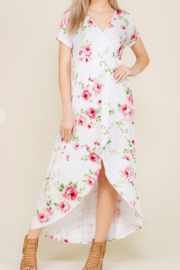 Viamor Summer Floral High-Low Dress - Product Mini Image