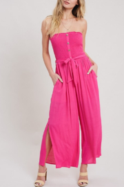 ee:some Summer Linen Jumpsuit - Product Mini Image