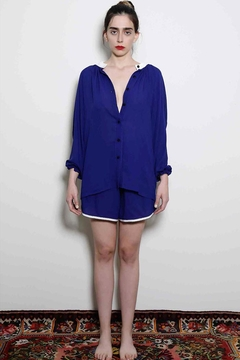 Levinia Konyalian Summer Navy Shirt - Product List Image