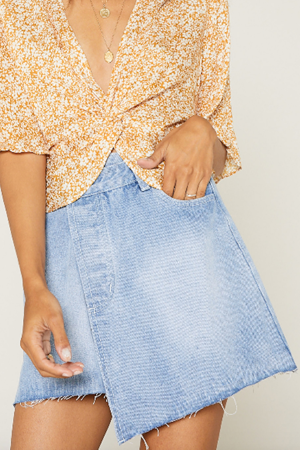 SAGE THE LABEL Summer Nights Mini Skirt - Side Cropped Image