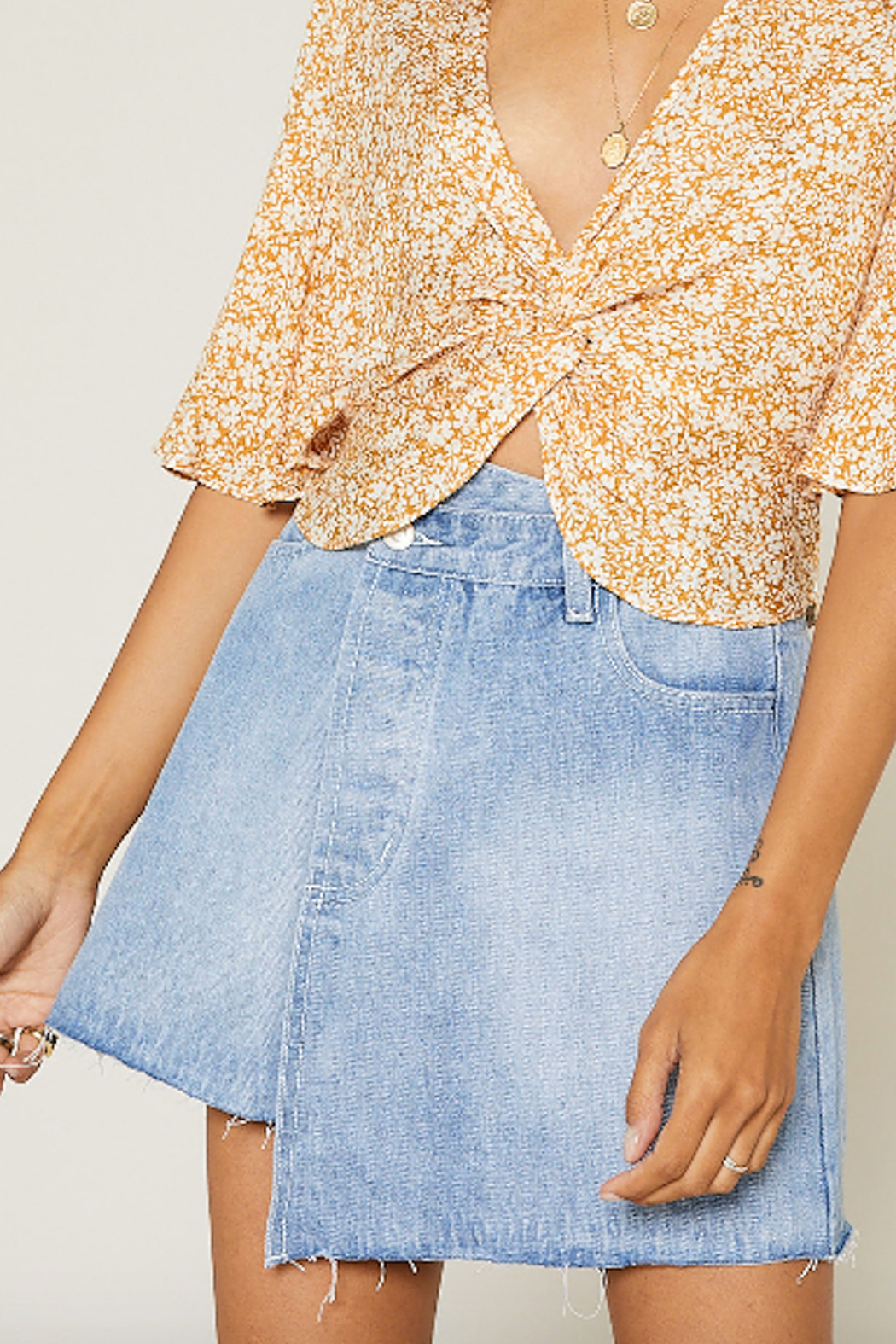 SAGE THE LABEL Summer Nights Mini Skirt - Front Cropped Image