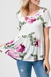 Izzie's Boutique Summer Peplum Top - Product Mini Image