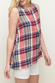 Mystree Summer Plaid Tunic - Front cropped
