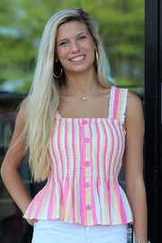 L Love Summer Popsicle Peplum Top - Product Mini Image