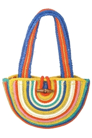 Fabulous MJ New York  Summer Rainbow Jute Tote - Front cropped