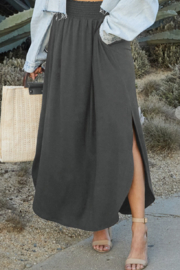 Ninexis Summer Smocking Maxi Skirt Curvy - Front cropped