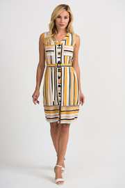 Joseph Ribkoff Summer Stripe Dress, Multi - Product Mini Image