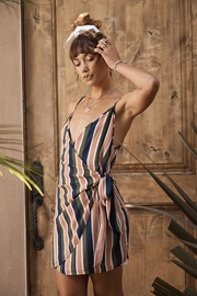 SAGE THE LABEL Summer Stripe Wrap-Dress - Front full body