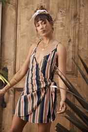 SAGE THE LABEL Summer Stripe Wrap-Dress - Product Mini Image