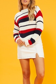 MinkPink Summer Striped Sweater - Front cropped