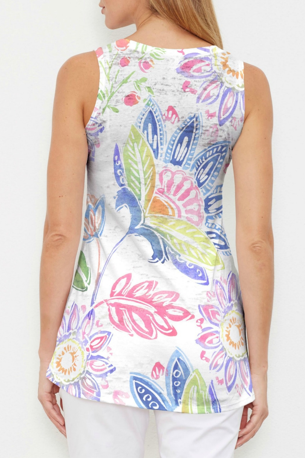 Whimsy Rose Summertime High-Low Tank - Front Full Image