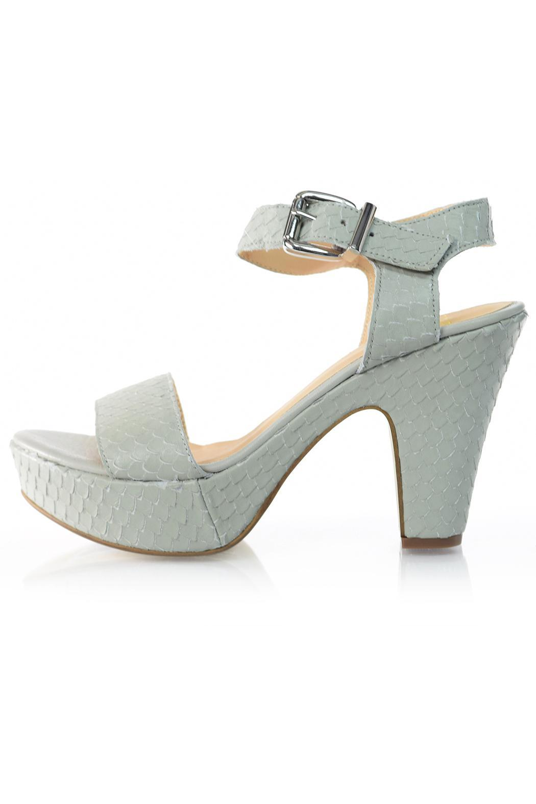 Summit White Mountain  Grey Snakepattern Heel - Main Image