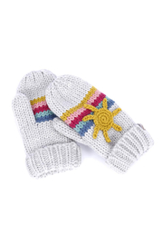 peppercorn kids Sun and Rainbow Mittens - Front cropped