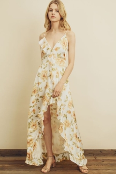Shoptiques Product: Sun-kissed Asymmetrical Ruffle Maxi Dress