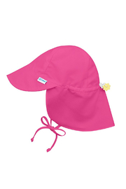 Green Sprouts Sun Protection Flap Hat - Hot Pink - Product Mini Image